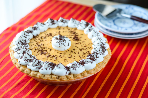 Pumpkin Chiffon French Silk Pie w/ Recipe