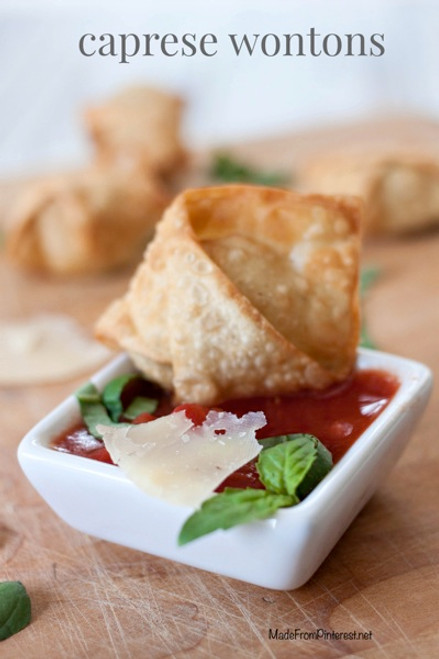 Caprese Salad Wontons - (Free Recipe below)