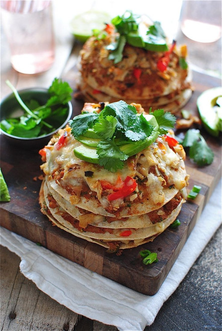 Chicken Taco Salad Stacks - (Free Recipe below)