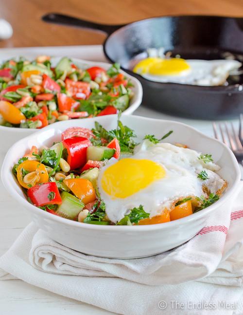 Breakfast Salad - (Free Recipe below)
