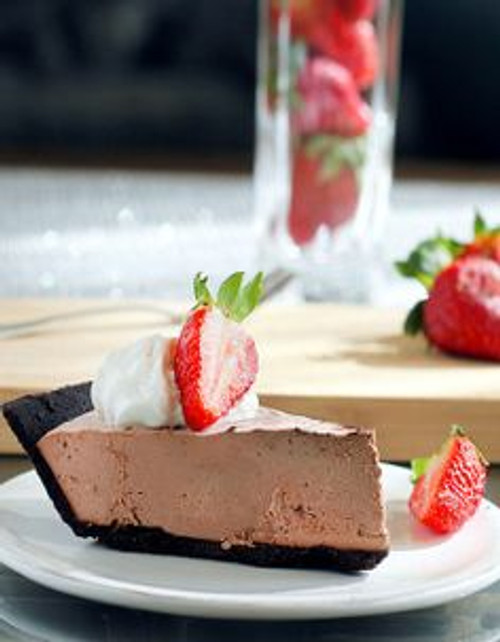 Chocolate Strawberry Truffle Pie (SF) - (Free Recipe below)