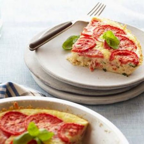 Caprese Crustless Quiche - (Free Recipe below)