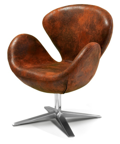 Modern Swan Leather Chair