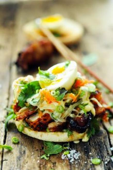 Chicken Bánh Mì Burger- (Free Recipe below)