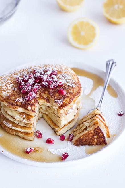 Lemon Ricotta Pancakes - (Free Recipe below)