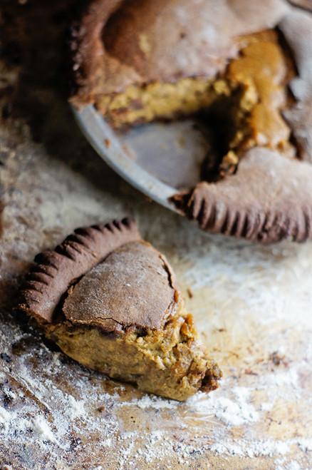 Gingerbread Eggnog Pumpkin Pie w/ recipe below