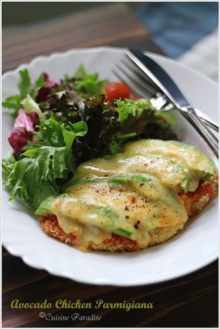 Avocado Chicken Parmesan - (Free Recipe below)