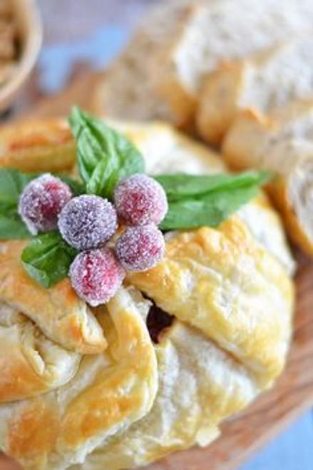 Baked Brie w/ Walnuts & Cranberry - (Free Recipe below)