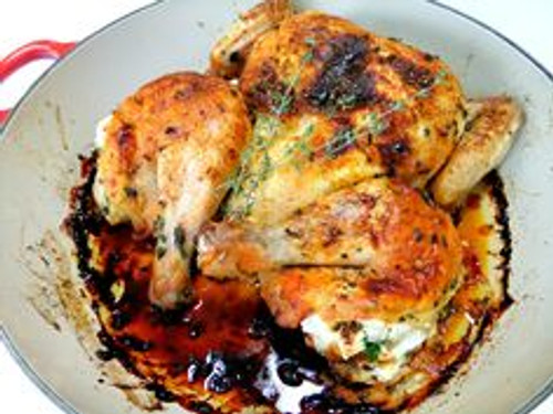 Ricotta Stuffed Butterflied Chicken - (Free Recipe below)