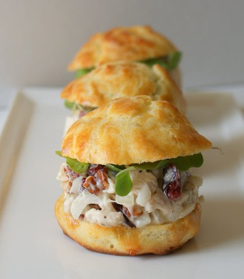 Gougeres with Chicken Salad - (Free Recipe below)