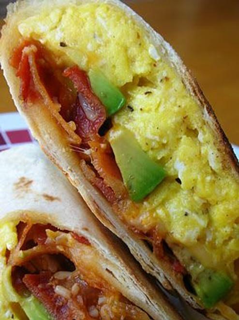 Avocado-Bacon Breakfast Wrap - (Free Recipe below)