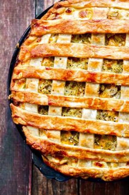 Chicken, Green Chile and Potato Pie - (Free Recipe below)
