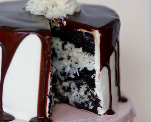 Mounds Layer Cake w/ recipe below