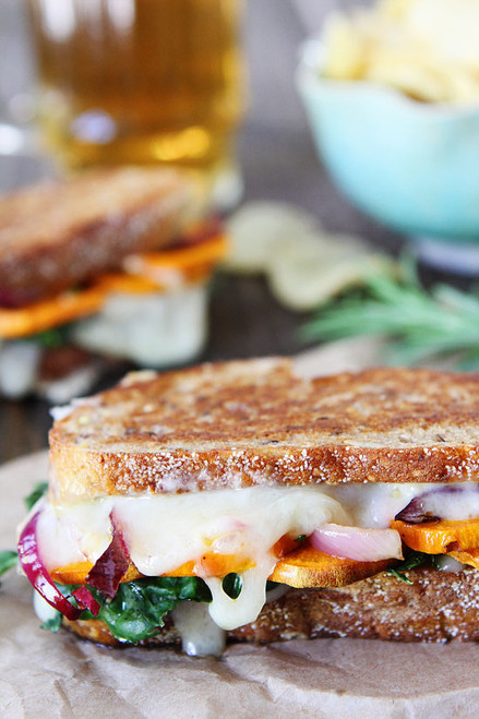 Sweet Potato and Kale Grilled Cheese - (Free Recipe below)