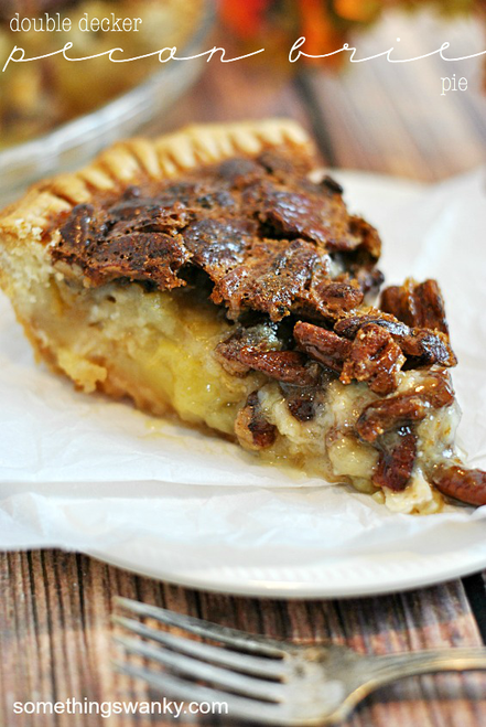Double Decker Pecan Brie Pie - (Free Recipe below)