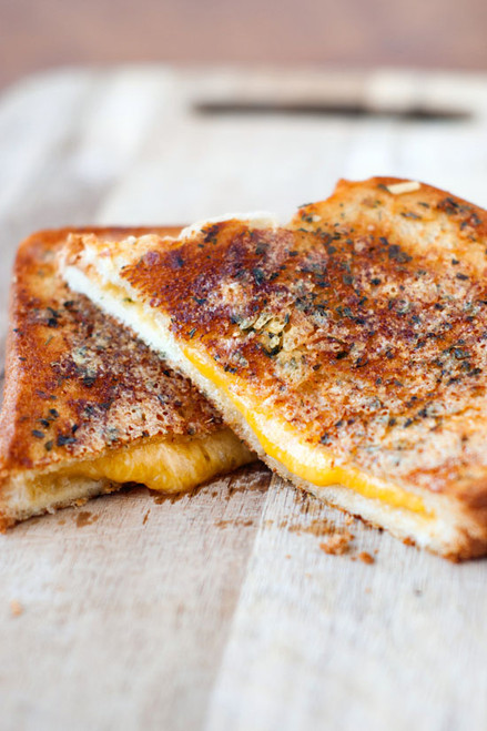 Crispy Garlic Bread Grilled Cheese Sandwiches - (Free Recipe below)