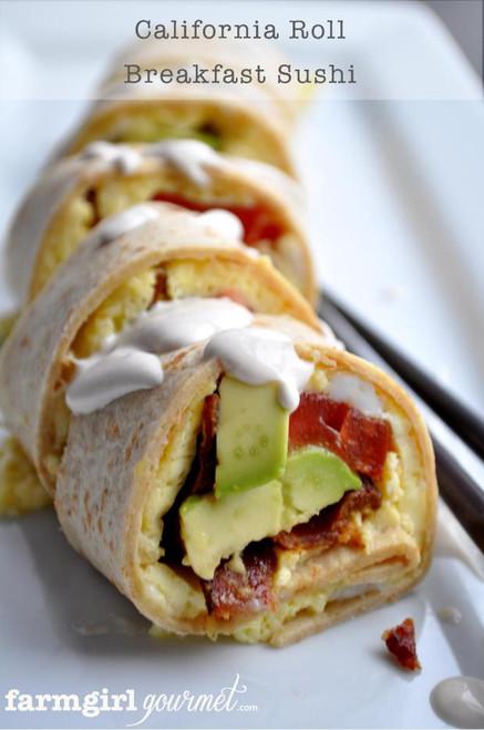 California Breakfast Sushi Roll - (Free Recipe below)