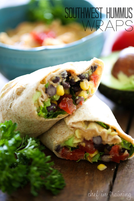 Southwest Hummus Wraps - (Free Recipe below)