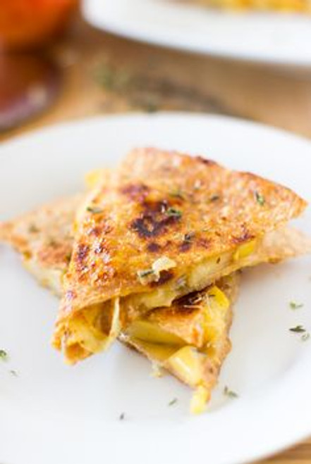 Apple, Gouda and Caramelised Onions Quesadillas - (Free Recipe below)