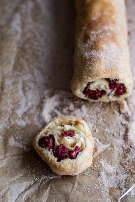 Cranberry + Brie Cinnamon Sugar Puff Pastry Swirl - (Free Recipe below)