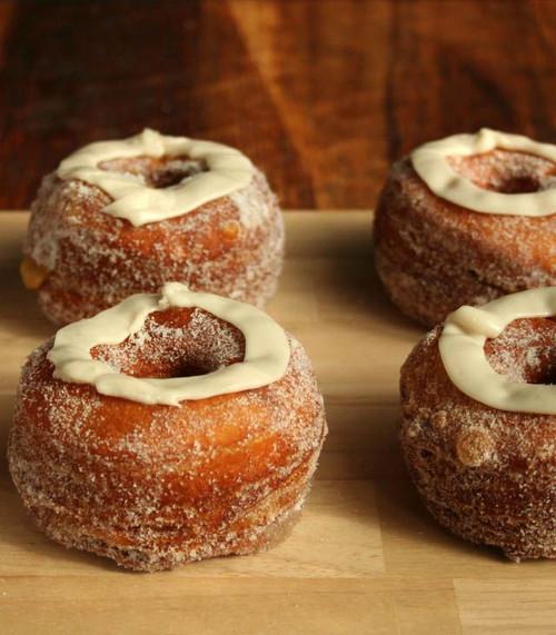Pumpkin Maple Croissant Donuts - One Dozen w/ recipe below
