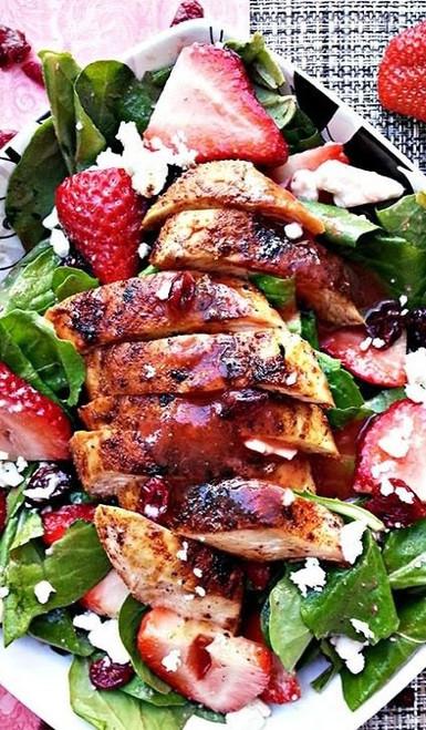 Blackened Chicken and Strawberry Salad - (Free Recipe below)