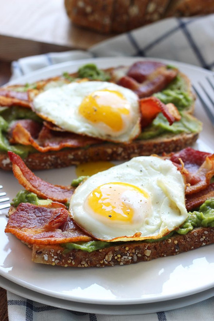 OPEN FACED BREAKFAST SANDWICH - (Free Recipe below)