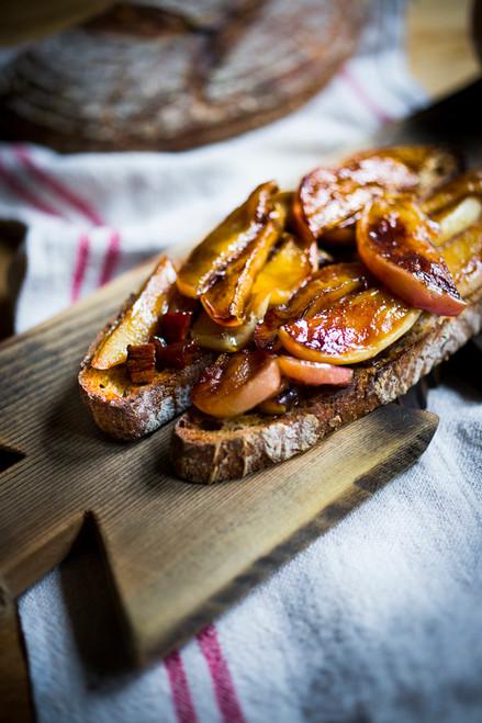 Warm Apples on Hot Toast - (Free Recipe below)