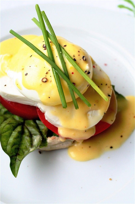 Caprese Eggs Benedict - (Free Recipe below)