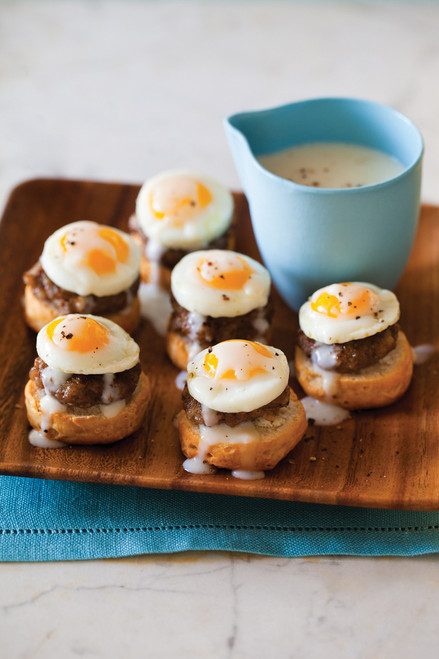 Itty Bitty Country Style Sausage Eggs Benedict - (Free Recipe below)