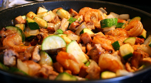 Hibachi Chicken and Shrimp - (Free Recipe below)