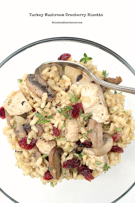 Turkey Mushroom Cranberry Risotto - (Free Recipe below)