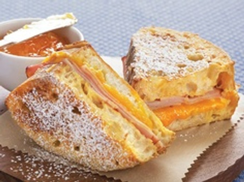 Ham and Cheese French Toast Sandwich - (Free Recipe below)