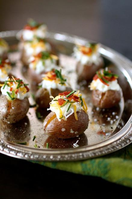 Mini Loaded Potato Football Bites - (Free Recipe below)
