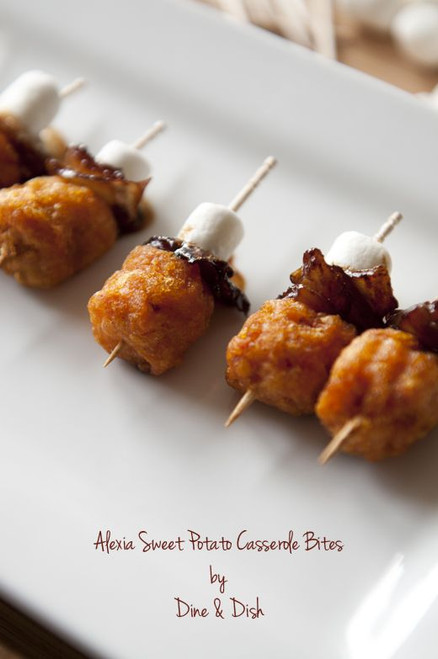 SWEET POTATO CASSEROLE BITES - (Free Recipe below)