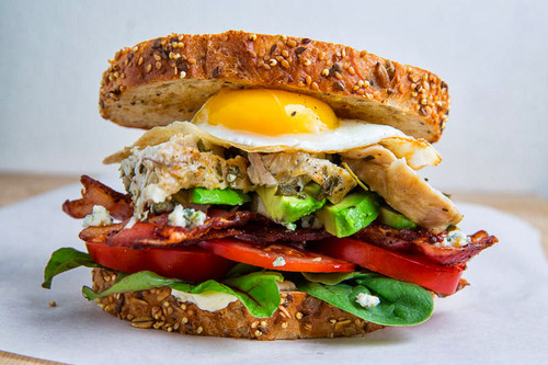 Roast Turkey Cobb Sandwich - (Free Recipe below)