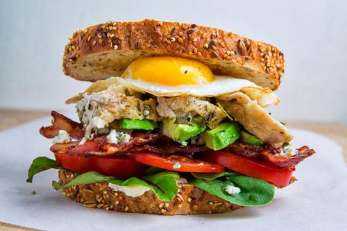 Roast Turkey Cobb Sandwich - (Free Recipe below)