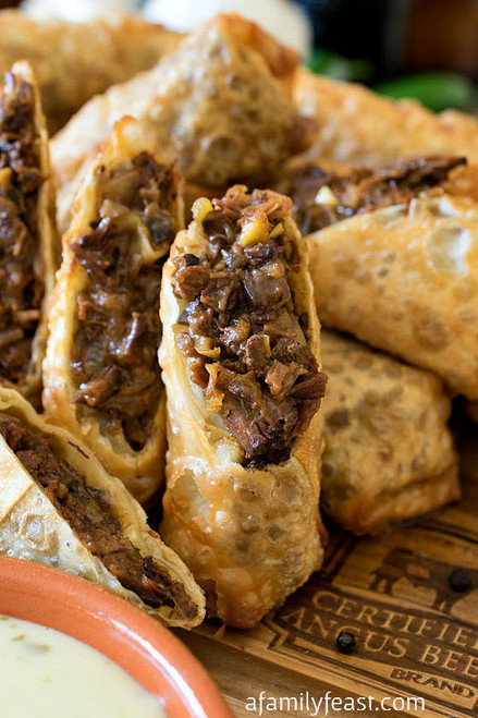 Cheesesteak Egg Rolls - (Free Recipe below)