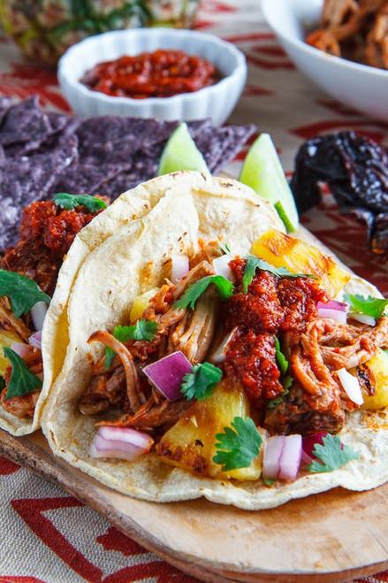 Tacos al Pastor w/ Pineapple Rosa - (Free Recipe below)