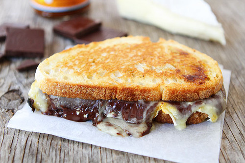 Pumpkin, Chocolate and Brie Grilled Cheese - (Free Recipe below)