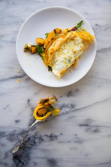 Maple Roasted Butternut Squash Omelet - (Free Recipe below)