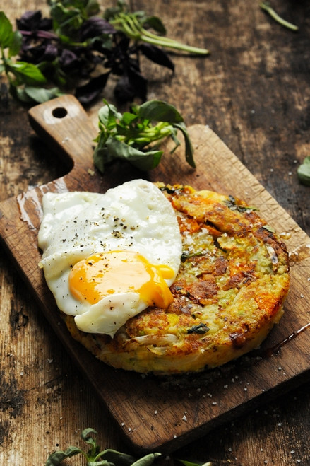 Vegetable Baked Eggs Potato Cakes - (Free Recipe below)