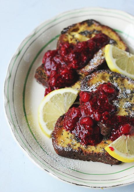 Lemon & Poppy Seed French Toast - (Free Recipe below)