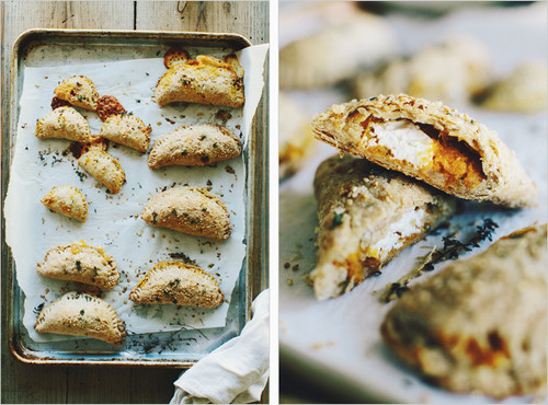 SQUASH + GOAT CHEESE EMPANADAS - (Free Recipe below)