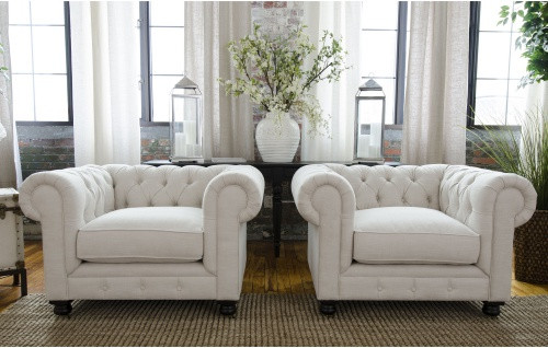 Tufted Fine Home Estate Fabric Chair Set