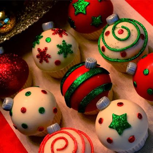 Ornament Cupcakes - One Dozen w/ recipe below