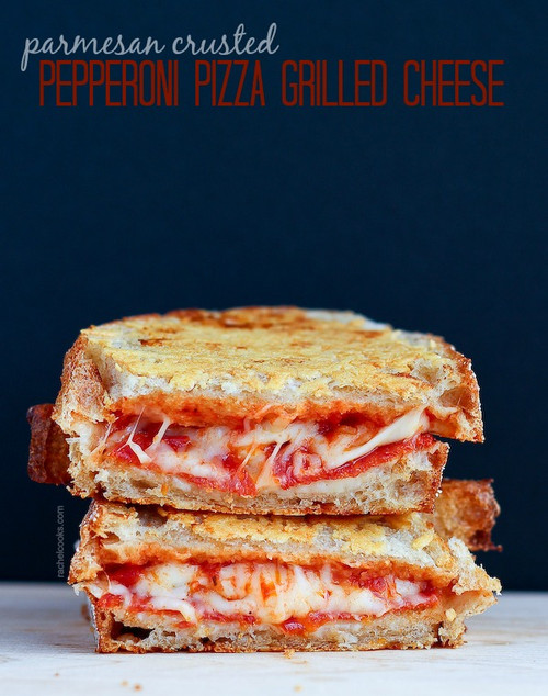 PARMESAN CRUSTED PIZZA GRILLED CHEESE - (Free Recipe below)
