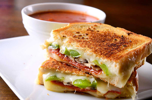 Pepperoni Pizza Grilled Cheese - (Free Recipe below)