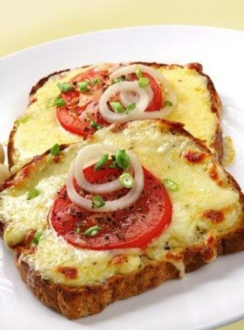 Tomato Mozzarella Toast w/ Onion - (Free Recipe below)