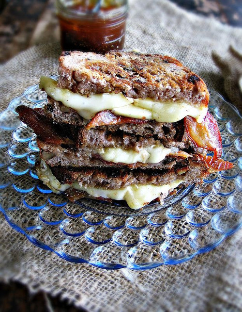 Brie & Bacon Grilled Cheese with Fig Jam - (Free Recipe below)